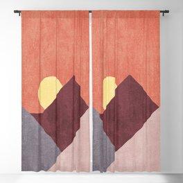 LANDSHAPES / Mountains - Sunset Blackout Curtain