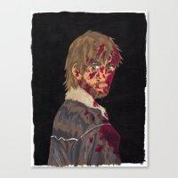 rick grimes Canvas Prints featuring Rick Grimes by Megan