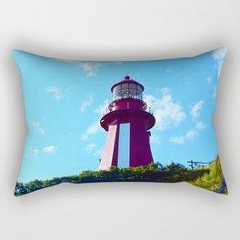 La Martre Lighthouse from Below Rectangular Pillow