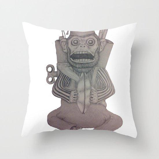 Monkey Bomb  Throw Pillow