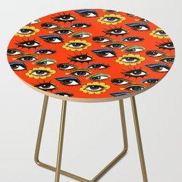 60s Eye Pattern Side Table
