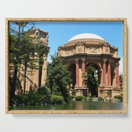View Over The Lagoone To The Palace Of Fine Arts - San Francisco Serving Tray