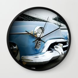 CLASSIC CARS AT THE TRACK Wall Clock
