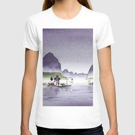 Cormorant Fishing Li River China T-shirt