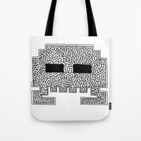 celtic Tote Bags featuring Celtic Invader by ronnie mcneil