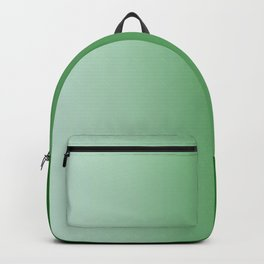Pastel Green to Green Vertical Linear Gradient Backpack