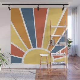 Desert Sun Ray Burst Wall Mural