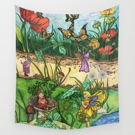Day in the garden Wall Tapestry