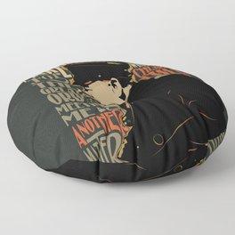 Winston Churchill Pop Art Quote Floor Pillow