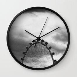 Back Side of the Link // London Eye Replica in Las Vegas Nevada City Strip Raw Landscape Wall Clock