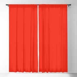 Solid Bright Fire Engine Red Color Blackout Curtain