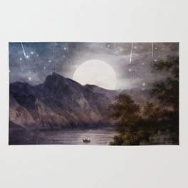 Love under A Wishing Star Sky Rug