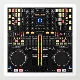 DJ Set NS7 Denon Mc6000 Art Print