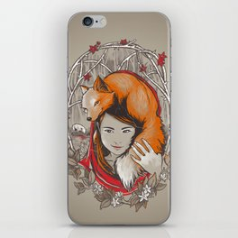Safe in My Red Riding Hood iPhone Skin