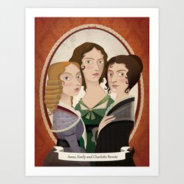 The Bronte sisters Art Print