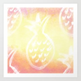 Pineapple Party 2 Art Print