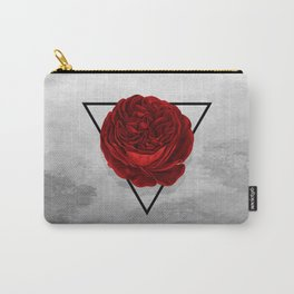 The Rose (white version) Carry-All Pouch