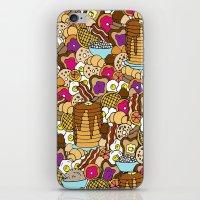 breakfast iPhone & iPod Skins featuring Breakfast by Julia Emiliani