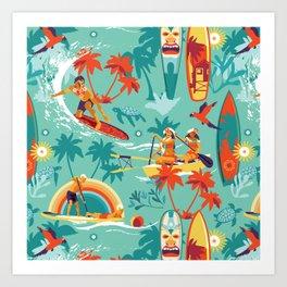 Hawaiian resort Art Print