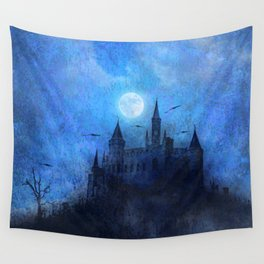 Mystical castle Wall Tapestry