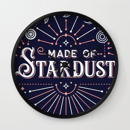 Stardust – Navy & Blush Palette Wall Clock
