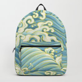 Wave Pattern Backpack