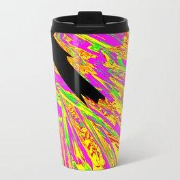 Pink Glitch Peaks Metal Travel Mug