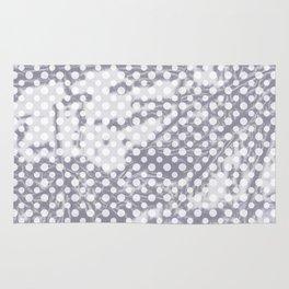Lilac-gray polka dots with texture Rug