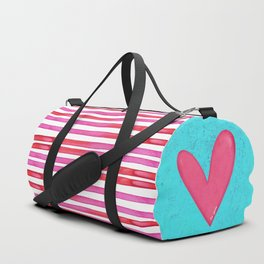 Soulmates Lines and Hearts Duffle Bag