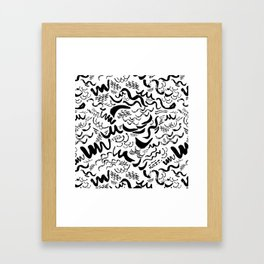 Wavy stripes Framed Art Print