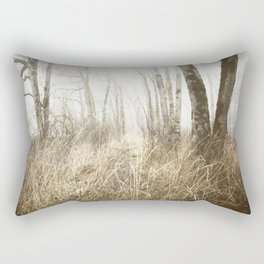 MIMICKED FORMS IN A MYSTERIOUS WOOD Rectangular Pillow
