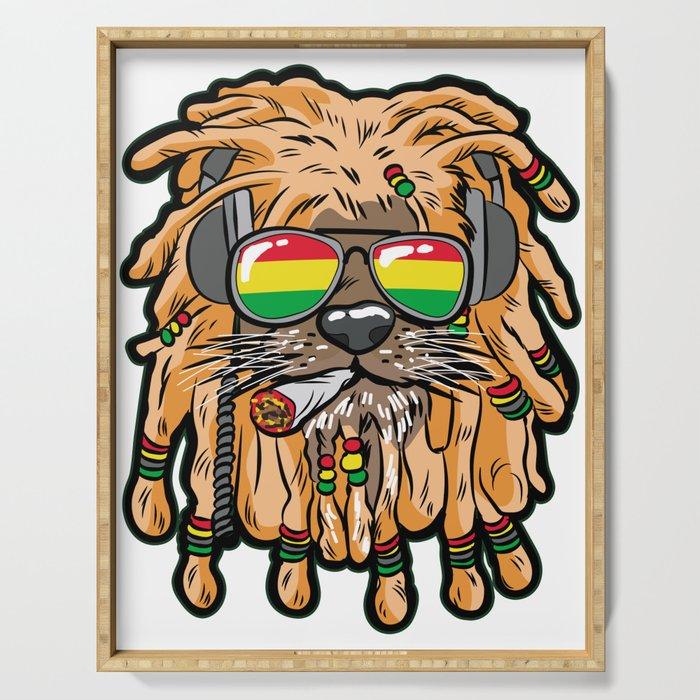 RASTA LION Joint Smoking Weed 420 Ganja Pot Hash Serving Tray