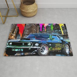 colorful muscle Rug