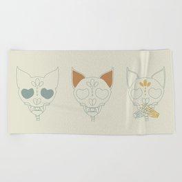 Cat Skull Beach Towel