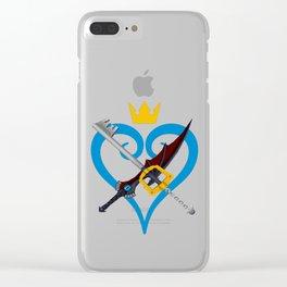 Kingdom Hearts キングダム ハーツ Keyblade Sora and Riku Clear iPhone Case