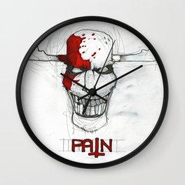 """Pain"" Wall Clock"