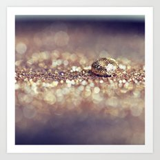 Gold Drop Art Print