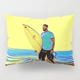 The Sun Kissed Surf At Santa Cruz Pillow Sham