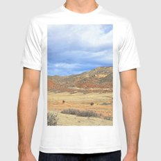 Horseback White Mens Fitted Tee MEDIUM