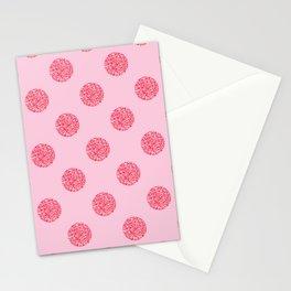 Pink Glitter Polka Dot Pattern Stationery Cards