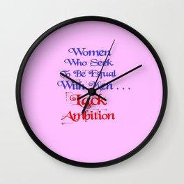 Ambition Wall Clock