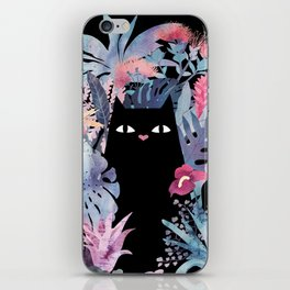 Popoki (Pastel Black Velvet) iPhone Skin