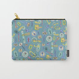 Moving Home House Warming - Blue Carry-All Pouch