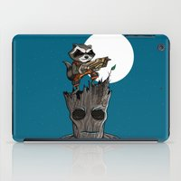 groot iPad Cases featuring Rocket & Groot by mebz art