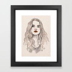 Girl. Framed Art Print