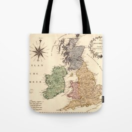 Map Of Great Britain 1795 Tote Bag