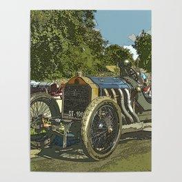 Vintage Racing Car - De Dietrich Course Poster