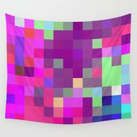 pixel Wall Tapestries featuring Pixel by FABIAN•SMITH
