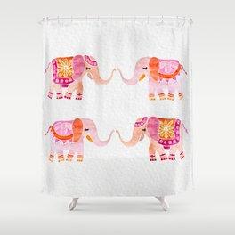 HAPPY ELEPHANTS - WATERCOLOR Shower Curtain