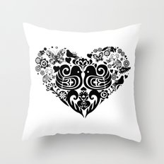 Baybeh Heart Haiku Throw Pillow